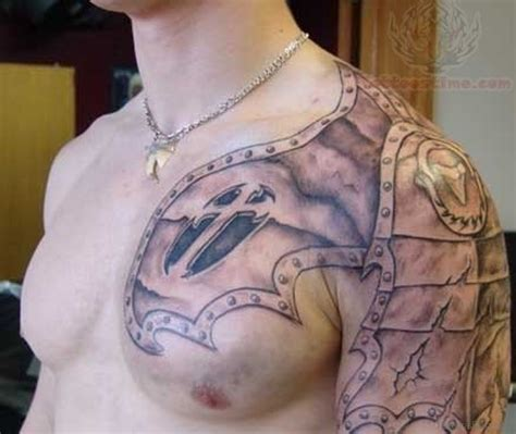chest plate tattoo 55 great armor tattoos for chest
