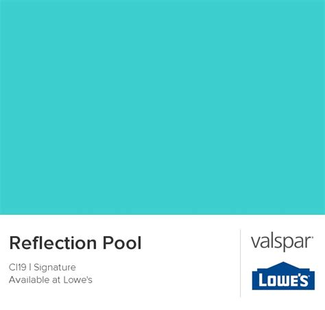 reflection pool from valspar paint