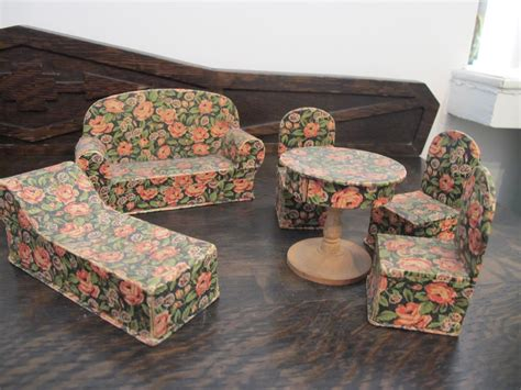 How To Make Paper Mache Furniture - containers as antique doll house furniture by susan