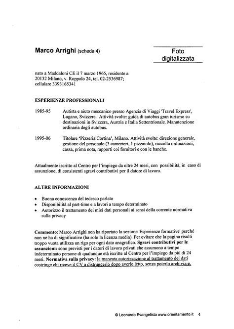 Formato Curriculum Vitae Non Europeo Europass Curriculum Vitae Cv Europeo Perch 233 Non Piace Alle Imprese
