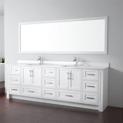 flow floor mount  double sink vanity freestanding