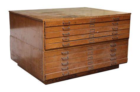 map drawers cabinet oak map flat file ten drawer cabinet olde things