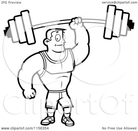 cartoon white lifting weights free colouring pages