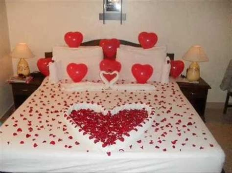 Wedding On Bed by Beautiful Bridal Wedding Bedroom Decoration