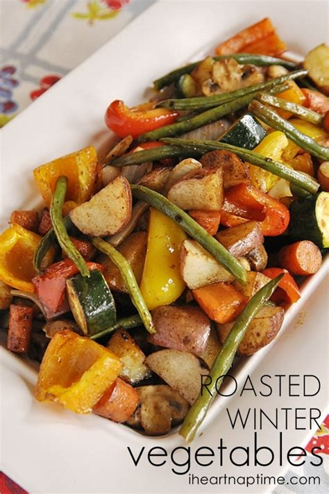 Winter Root Vegetable Recipes - roasted winter vegetables i heart nap time