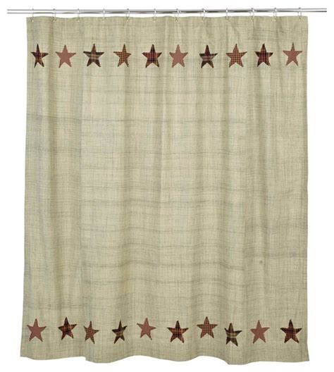 rustic bathroom shower curtains plaid star shower curtain rustic shower curtains by