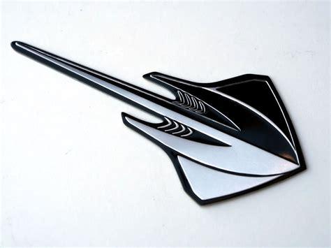c7 corvette emblem c7 corvette stingray 2014 emblem black silver sted
