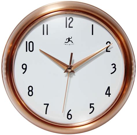 infinity retro wall clock copper retro wall clock by infinity instruments 9 5 quot or