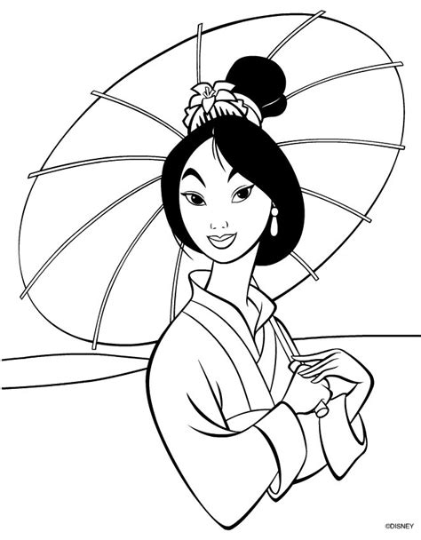 princess mulan coloring page disneys mulan free printable coloring pages disney