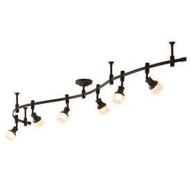 decorative track lighting shop allen roth 6 light bronze integrated led decorative