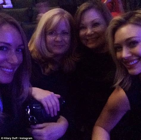 bonnie hunt sister hilary duff looks fresh after cher concert with sister