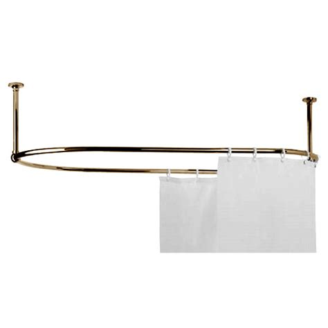 gold curtain rail mere traditional racetrack shower curtain rail gold 30