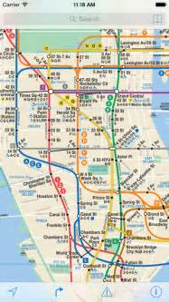 New York City Subway Map App by Itrans Nyc Subway On The App Store