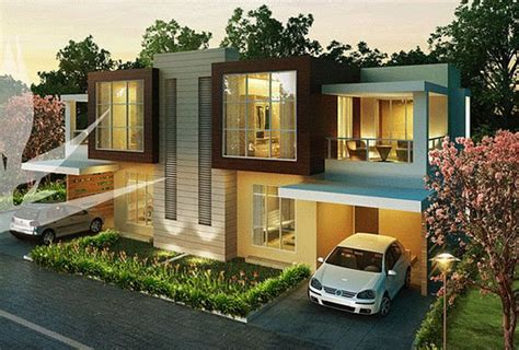 Row House Pune - modern front elevations india ayanahouse
