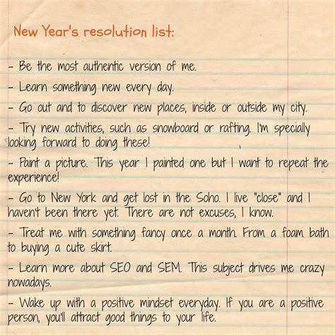 new years resolution list 28 images new year s