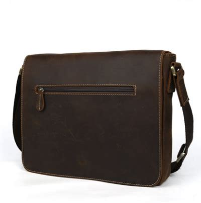 Handmade Mens Bags - handmade stitched leather messenger bag mens