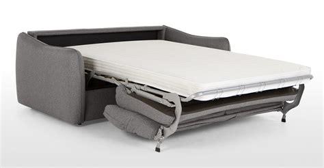 jefferson large sofa bed tweed grey made
