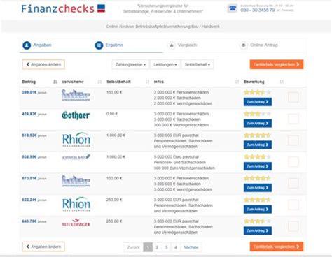Musterrechnung Wko Kleingewerbe Friseur Betriebshaftpflichtversicherung Kosten Rechner