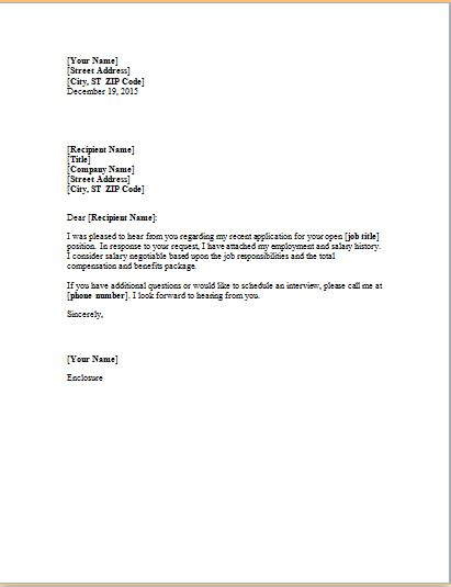 business letters history 11 professional and business cover letter templates
