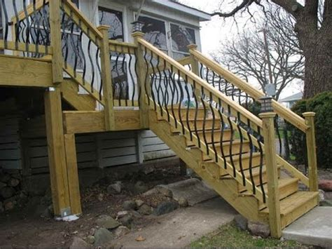 deck stair railing ideasdeck railing ideas  stairs