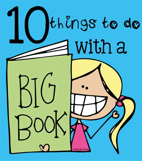 big picture books 10 things to do with a big book from the pond