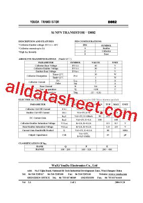 transistor nec d882 datasheet d882 datasheet pdf list of unclassifed manufacturers