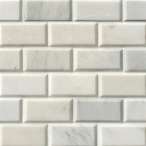 2x4 Beveled Subway Tile Backsplash by Greecian White Subway Tile Beveled 2x4 Msi Tile