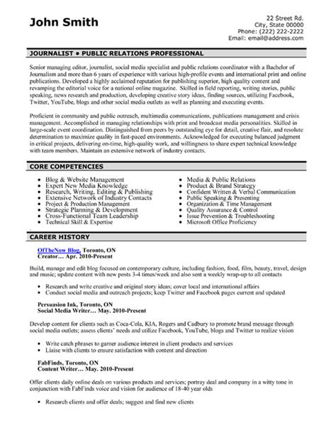 pr templates top relations resume templates sles