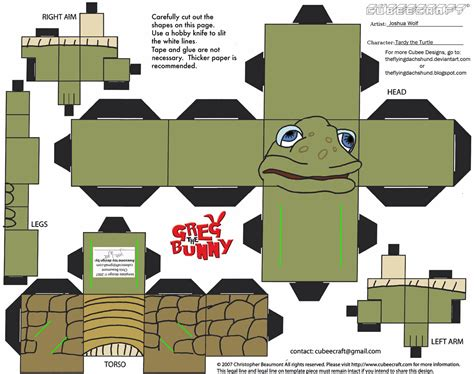 Turtle Papercraft - tardy turtle from greg the bunny paper free