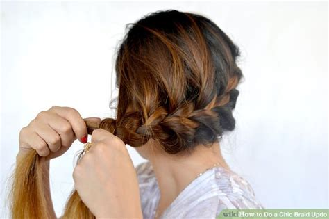 wikihow braid how to do a chic braid updo 9 steps with pictures wikihow