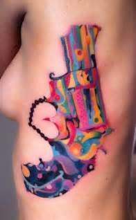 tattoos with color color revolver rib color tattoos best tats