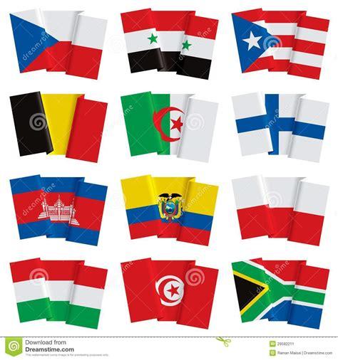 clipart bandiere insieme delle bandiere mondo illustrazione vettoriale