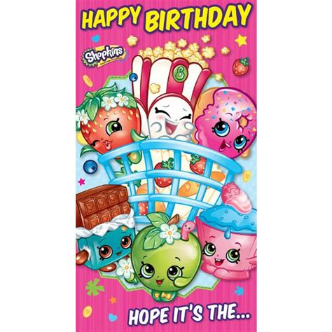 Ocado Gift Card - shopkins birthday card with stickers from ocado
