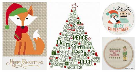 15 festive christmas cross stitch patterns