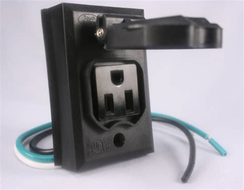 Outdoor Light Post With Outlet Add On L Post Outlet Black