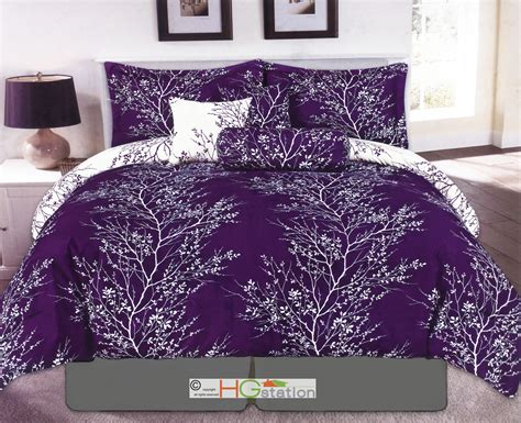 branches comforter set 7 nature dendron branches silhouette reversible comforter