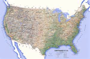 us atlas physical map physical features of the united states atlas of american