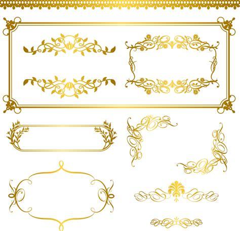 gold pattern ai 金色に輝く飾り罫 gold lace pattern イラスト素材 ai eps イラストレーター