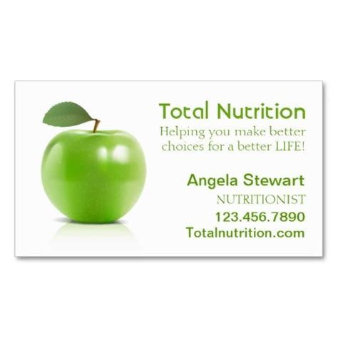 nutritionist business card templates 258 best dietitian business cards images on