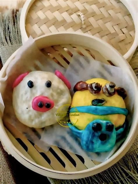 Coklat Karakter Hello Kismis Mede Filling widya sri rusdianti s kitchen character steam bun with chocolate nutella filling bakpao