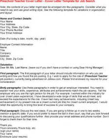 Early Childhood Education Cover Letter by Cover Letter 1st Paragraph