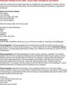 preschool resume sles free