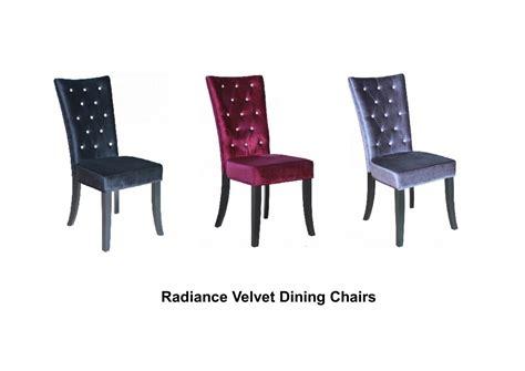 Purple Velvet Dining Chairs Radiance Velvet Dining Chairs X 2 Black Purple Grey Ebay