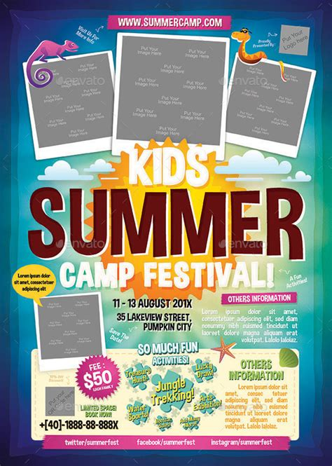 kids summer camp flyer  shamcanggih graphicriver