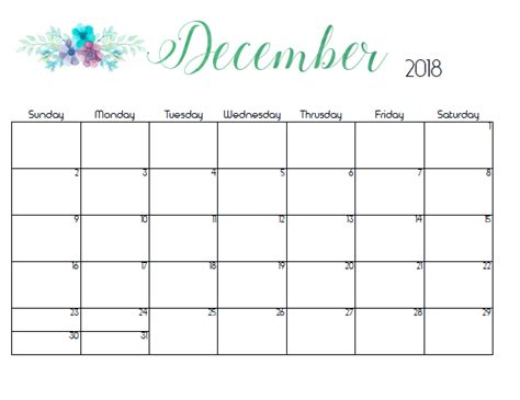 make a calendar december 2018 december 2018 calendar template printable usa uk canada
