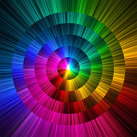 color prism abstract circle prism colors background stock illustration