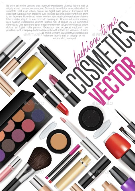 Fashion Cool Tools To Find It by Makeup Cosmetics Tools Fashion Vector Background By