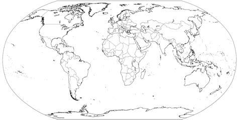 world outline map full size