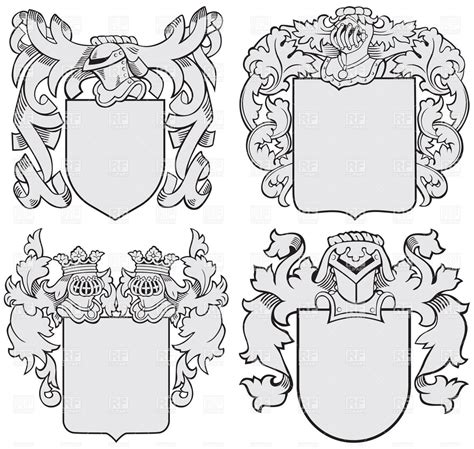 templates for images drawn shield template vector pencil and in color drawn