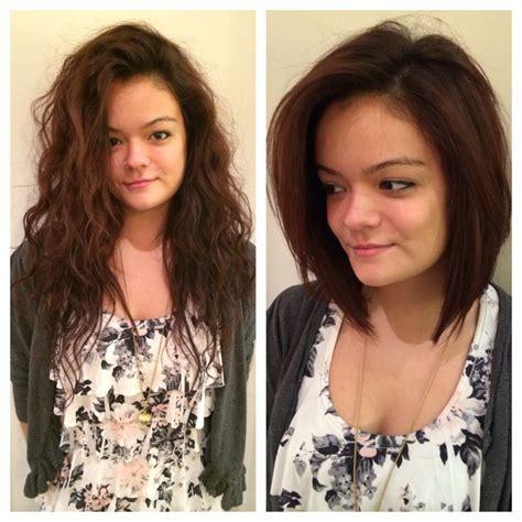 haircut before or after hair dye bob haircut red hair auburn hair before and after